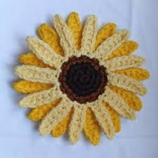 Crochet Sunflower Pattern Delectable Free Crochet Pattern Giant Sunflower AllFreeCrochet