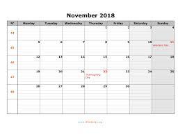 November Through November Calendars November 2018 Calendar Wikidates Org