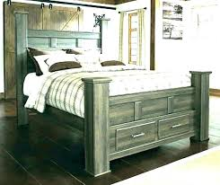 Distressed Wood Bed Aria Queen Bed 1 Distressed Wooden Bed Frames ...