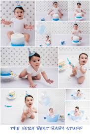 Blue Ombre Silver Star Cake Smash The Very Best Baby Stuff