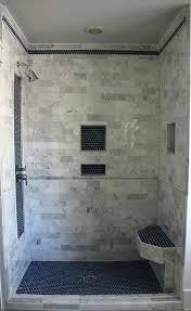 built in shower custom built tile shower bathroom build custom shower niche