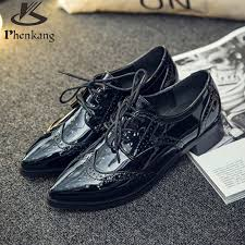 black grey patent leather oxford shoes for women pointed toe flats handmade shoes woman size 8