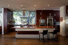 Dark Wood Kitchen Kitchen Idea Of The Day Modern Dark Wood Kitchen With Tinted Glass