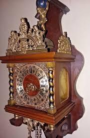 nice vintage german made linden wall clock world atlas