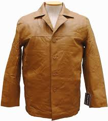 european style leather jacket color camel