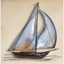 metal sailboat wall sculpture mt 39