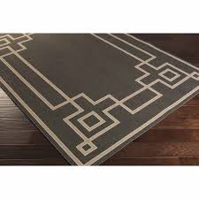 art of knot luxor machine made greek key border indoor outdoor area rug black com