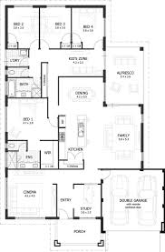 Best 25 4 Bedroom House Plans Ideas On Pinterest  Country House Small 4 Bedroom House Plans
