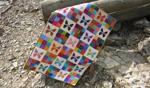 Scrappy Butterfly Baby Quilt Tutorial • Freemotion by the River &  Adamdwight.com