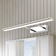 Adjustable Wall Light Litfad Modern Bathroom Vanity Light With Swivel Lamp Head 27 17 Length 16w Led Neutral Acrylic Toilet Ceiling Lights Pendant Light Silver Amazon Com