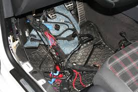 tucking my fusebox vw gti forum vw rabbit forum vw r32 forum fusebox wires behind and under the dash to the glovebox and run the rest under the fender liner to the bay like i did for my battery cable