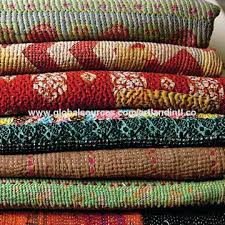 Vintage Kantha Quilts – co-nnect.me & ... India Quality Vintage Kantha Quilt Indian Reversible Pure Cotton Made  Kantha Blanket Vintage Kantha Quilt Throw ... Adamdwight.com