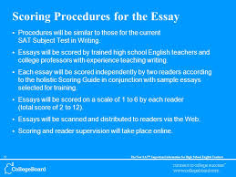the new sat ® important information for high school english  55the new sat ® important information for high school english teachers scoring procedures for the