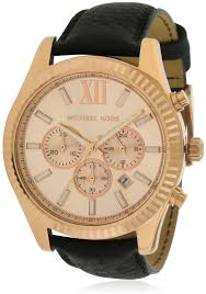 michael kors lexington leather chronograph men s watch mk8516