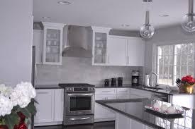 grey granite kitchen decoration ideas wonderful design white cabinets with gray countertops steel