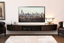 wall mount floating entertainment center tv stand  arc  espresso