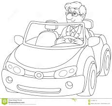 car driving clipart black and white. Fine Driving Driver In A Black Cabriolet On Car Driving Clipart Black And White