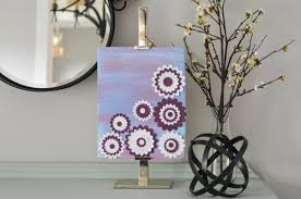 Diy Canvas Art With Paper Flowers Crafts Unleashed