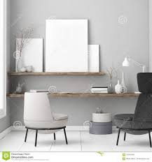 Scandinavian Design Concept White Poster Scandinavian Design Concept 3d Illustration