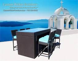 Patio Furniture Viro Outdoor Wicker & Acrylic Cushions 7 Pc