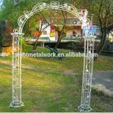 wrought iron garden arch trellis steel rose vintage with two columns white