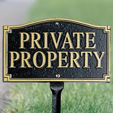 Decorative Private Property Signs Private Property Yard Signs at BrookstoneBuy Now 2