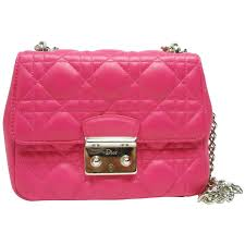 dior miss dior bag pink cannage leather small size brand new for