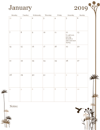 12 Month Calendar Mon Sun