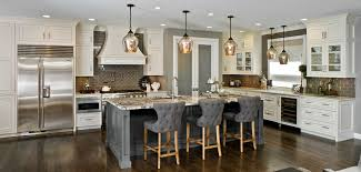 white gray traditional style kitchen updated with a sleek freshness