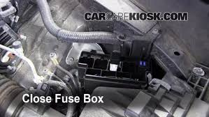blown fuse check 2009 2012 infiniti fx35 2010 infiniti fx35 3 5l v6 6 replace cover secure the cover and test component