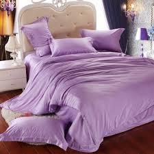luxury light purple bedding set queen king size lilac duvet cover double bed in a bag sheet linen quilt doona bedsheet tencel bedcover black and white duvet