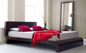 curve modern platform bed