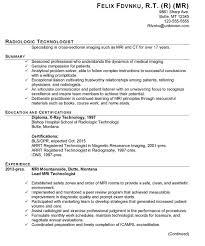 Resume For Radiologic Technologist Inspiration Sample Resume For Radiologic Technologist Hola Klonec Co