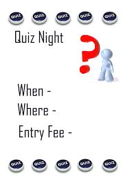 a quiz night poster