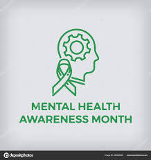 Monoweight Design Mental Health Awareness Month Design Element Monoweight Flat