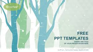 Winter Tree Template Winter Trees Nature Powerpoint Templates