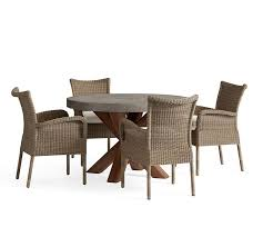 Abbott Round Table & Georgia All Weather Wicker Chair Dining Set