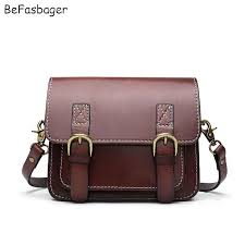 befasbager mini satchel vintage flap over womens shoulder bags genuine leather cross purse sling bag green bags for women leather satchel las bags