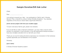 Contribution Letter Donation Letter Template For Schools