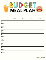 Meal Budget Planner Simple Family Meal Planning Tips To Save Money Meal