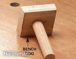 bench dog clamp.