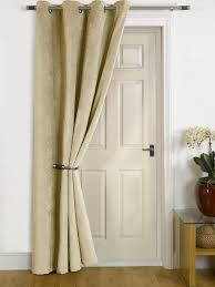 sydney natural thermal door curtain faux velvet fabric reduces heat loss prevents draughts saves energy co uk kitchen home