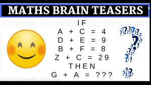 Easy Maths Brain Teasers with Answers to Challenge your Brain-Fun ...