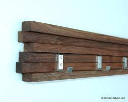 coat rack  hook walnut modern key hat minimalist wall hanging