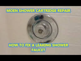 how to fix a leaking shower faucet moen cartridge replacement