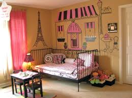 Pink And Orange Bedroom Charming Girl Bedroom Decoration Using Pink Iron Girl Headboard