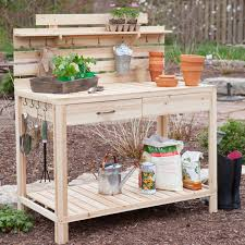 Potting Benches Potting Bench With Storage Bathroom Faucet And Bench Ideas
