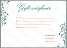 Personalized Gift Certificates Template Free Unique Flower Gift Certificate Template