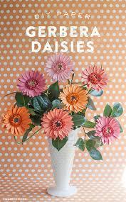 Paper Flower Cricut Template Diy Gerbera Daisy Paper Flower