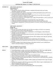 Software Architect Resume Samples Velvet Jobs